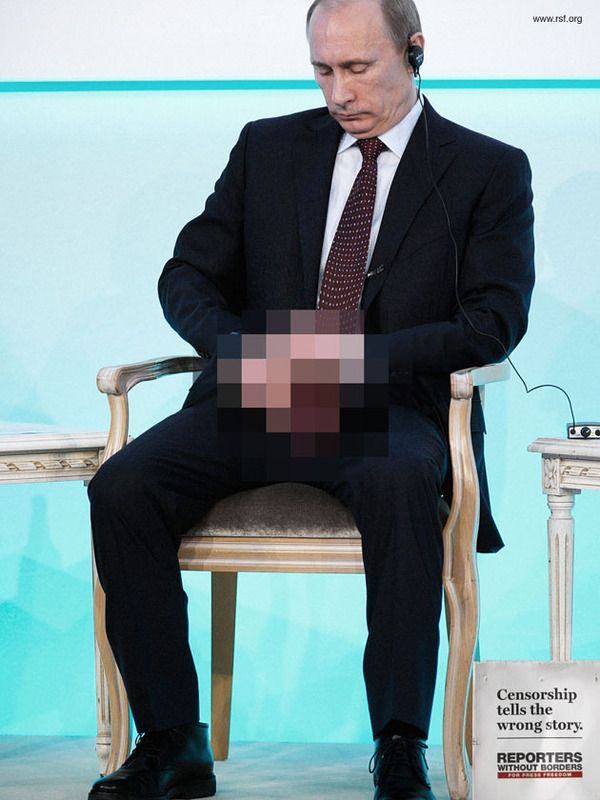 Διαφήμιση με τίτλο 'Censorship tells the wrong story' (Reporters Without Borders) © Agency: Memac Ogilvy & Mather Dubai, UAE
