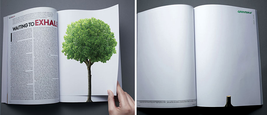 Διαφήμιση με τίτλο 'Deforestation' (Greenpeace) © Agency: LINKSUS, Beijing, China