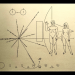 A recreation of the Pioneer 10 Plaque