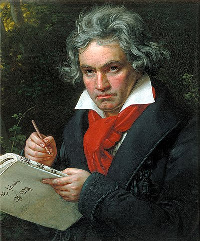 Ελαιογραφία του Μπετόβεν από τον ζωγράφο Γιόζεφ Καρλ Στίλερ, 1820